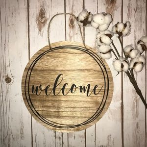 Other - Wooden Hanging Welcome Sign